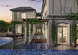Luxury Home Courtyard View